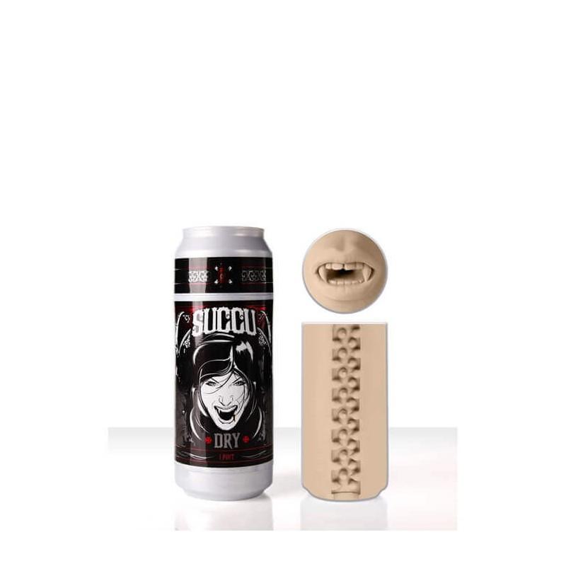 Masturbatore Bocca FL SEX IN A CAN SUCCU DRY PINK