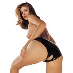 Mutandina Latex Panties Crotchless Black Misura S/L