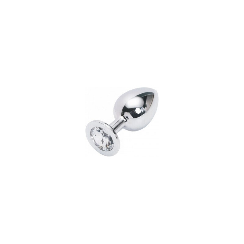 Plug anal argento small 7,5 cm